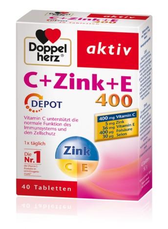 Doppelherz C + Zink + E 400 DEPOT